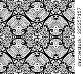 vector seamless monochrome... | Shutterstock .eps vector #335257157