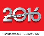 happy new year 2016 text design    Shutterstock .eps vector #335260439