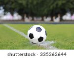 soccer ball on green grass . | Shutterstock . vector #335262644