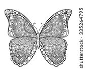 butterfly. vintage decorative... | Shutterstock .eps vector #335264795