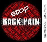 stop back pain representing... | Shutterstock . vector #335274071