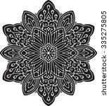 abstract vector round lace... | Shutterstock .eps vector #335275805