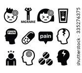 headache  migraine   medical...   Shutterstock .eps vector #335276375