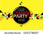 horizontal yellow music party... | Shutterstock .eps vector #335278007