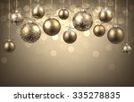 new year background with balls. ... | Shutterstock .eps vector #335278835