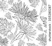 seamless vector floral grunge... | Shutterstock .eps vector #335280287
