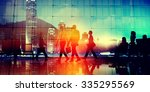 business people commuter... | Shutterstock . vector #335295569