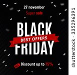 black friday sale design... | Shutterstock .eps vector #335296391