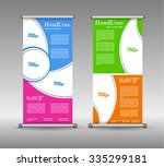 roll up banner abstract... | Shutterstock .eps vector #335299181