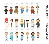 super professions collection | Shutterstock .eps vector #335301707