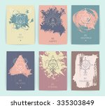 set of vector geometric alchemy ... | Shutterstock .eps vector #335303849