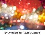 bokeh glittering holiday... | Shutterstock . vector #335308895