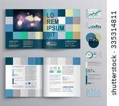 blue brochure template design... | Shutterstock .eps vector #335314811