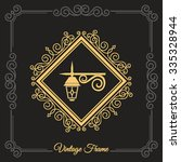 vintage street lamp. luxury... | Shutterstock .eps vector #335328944