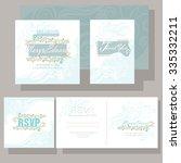 wedding invitation ornamented...   Shutterstock .eps vector #335332211