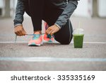 fitness workout and healthy... | Shutterstock . vector #335335169