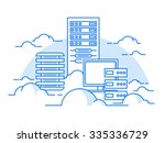 cloud service. internet and... | Shutterstock .eps vector #335336729