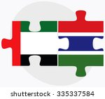 united arab emirates and gambia ... | Shutterstock .eps vector #335337584