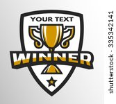 winner sports trophy  emblem ... | Shutterstock .eps vector #335342141