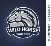 horse emblem  logo for a sports ...   Shutterstock .eps vector #335342159