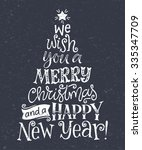 vector christmas tree of... | Shutterstock .eps vector #335347709