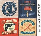 set of house renovation labels... | Shutterstock .eps vector #335358839