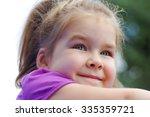 Portrait A Little Girl On...