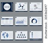 business presentation  slide... | Shutterstock .eps vector #335362697