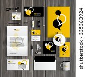 black and yellow corporate... | Shutterstock .eps vector #335363924