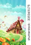 cartoon candy house on the... | Shutterstock . vector #335365175