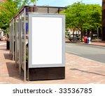 bus stop billboard for outdoor... | Shutterstock . vector #33536785