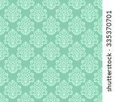 damask seamless floral... | Shutterstock . vector #335370701
