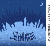christmas postcard | Shutterstock .eps vector #335374031