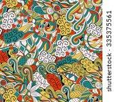 tracery seamless calming... | Shutterstock .eps vector #335375561