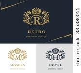 monogram design elements ... | Shutterstock .eps vector #335380055