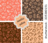 vector seamless patterns set... | Shutterstock .eps vector #335380151