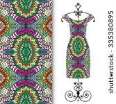 vector fashion illustration ... | Shutterstock .eps vector #335380895