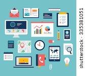 flat design of business... | Shutterstock .eps vector #335381051