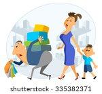 vector illustration of family... | Shutterstock .eps vector #335382371