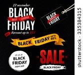 black friday sale design... | Shutterstock . vector #335384315