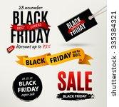 black friday sale design... | Shutterstock . vector #335384321