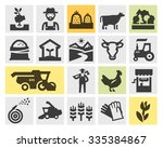 Farm Icons Set. Signs And...