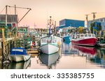 Fishing Harbour With Colourful...