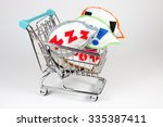 shopping cart isolated on white ... | Shutterstock . vector #335387411