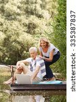 portrait of senior couple... | Shutterstock . vector #335387837