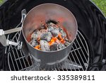 Flaming Hot Charcoal Briquette...