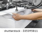 print shop  preparing large... | Shutterstock . vector #335395811