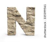 Stone 3d Font Letter N