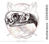 Eagle Skull. Hand Drawn...