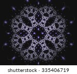 abstract fractal snow star... | Shutterstock . vector #335406719